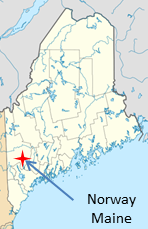 Map Location Norway Maine