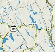 Maps For Norway Maine - Norway maine map